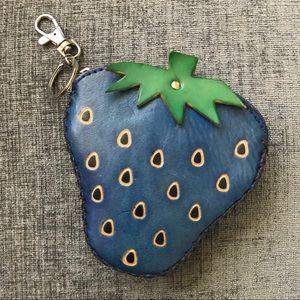 Hand Made Strawberry Change Purse